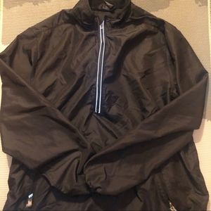 Nike Black Reflect Running Windbreaker Pullover L